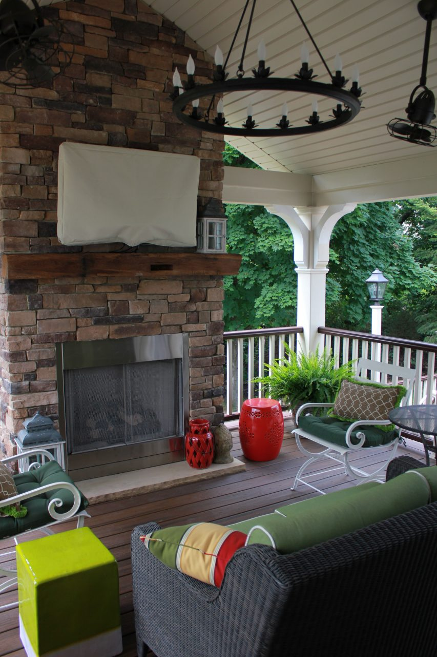 Trex Deck With Gas Fireplace Create Your Space Deck Fireplace
