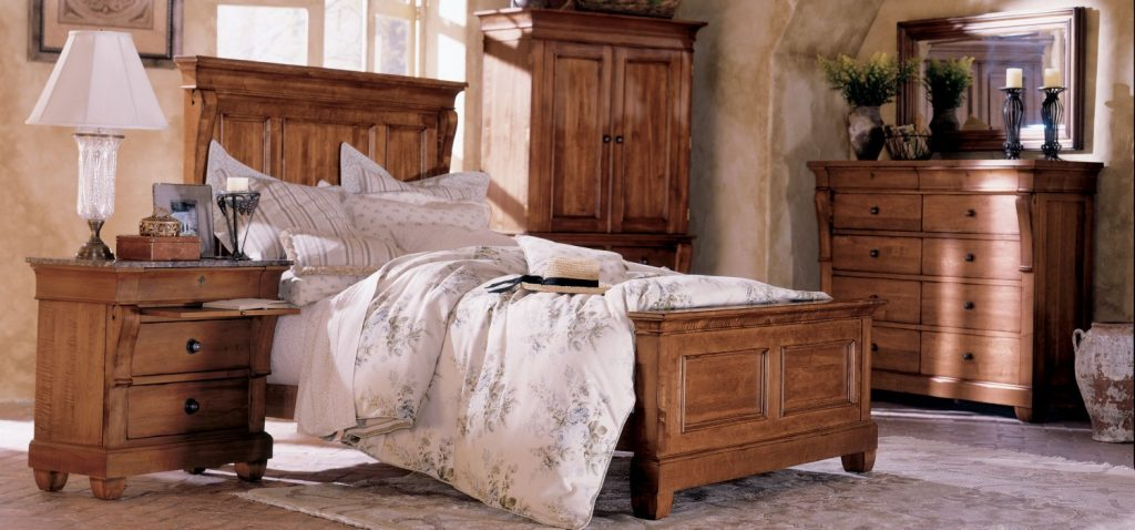 Tucscano Solid Wood Bedroom Dining Room And Living Room Furniture