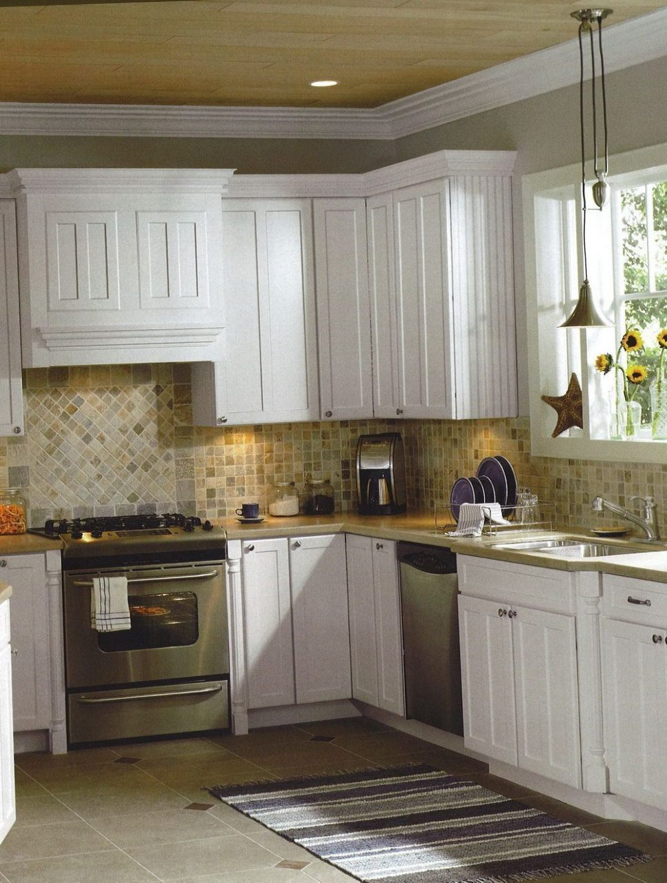 Unique Small Kitchen Backsplash Ideas Designs Travertine Whitele