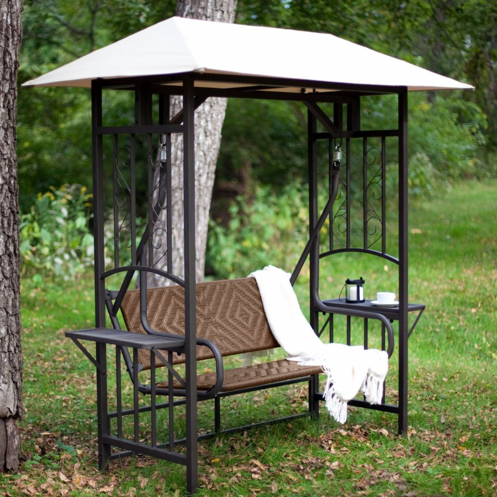 Unique Swing Gazebo 1 2 Person Outdoor Swing With Canopy