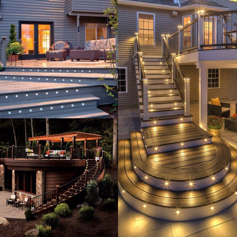 Us 13399 Fashion Recessed Led Fence Lights Under Deck Lighting Led Outdoor Step Stairway Garden Decking Lighting Ideas 20pcsset F102x 20 In Led