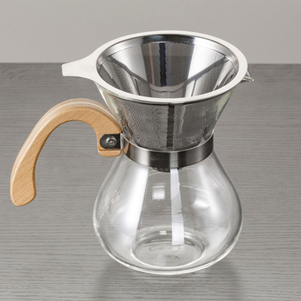 Us 334 15 Offstainless Steel Coffee Funnel Kitchen Funnels Cone Coffee Filter Mesh Dripper Wine Sauce Kitchen Filter In Colanders Strainers From