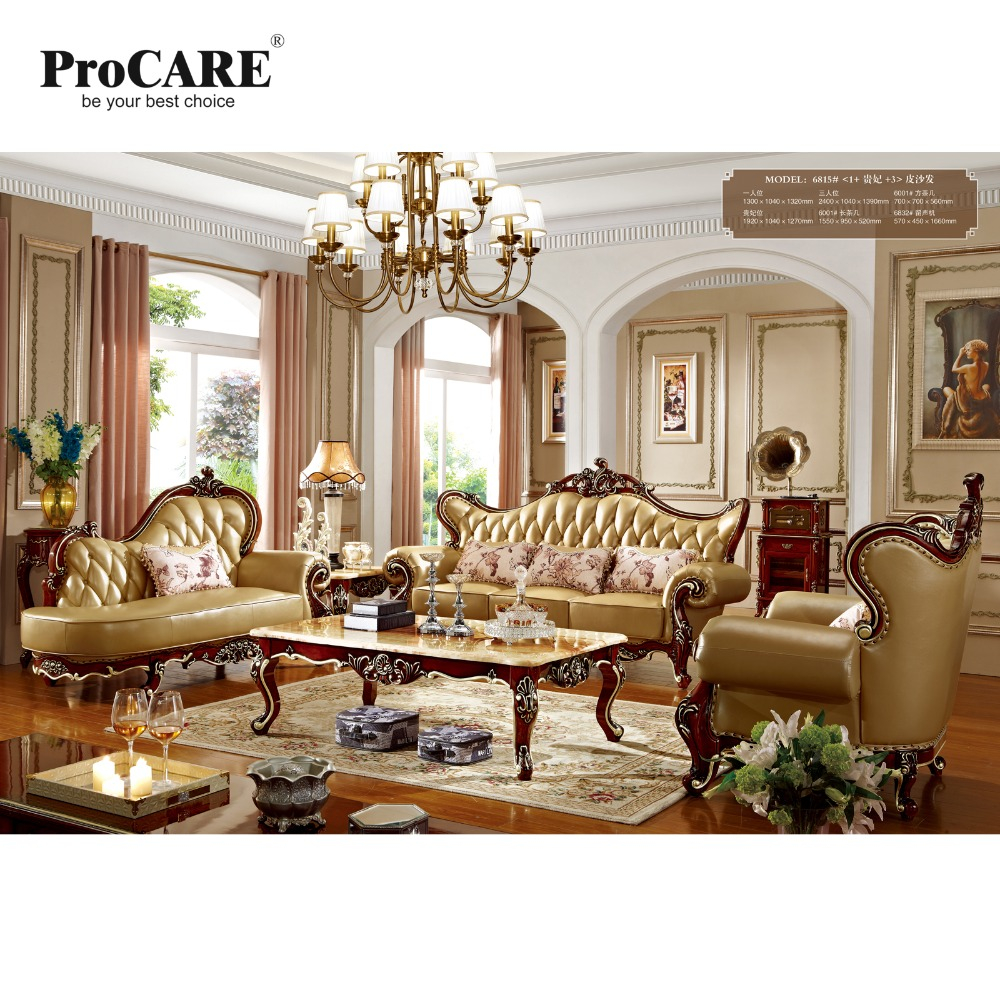 Us 469775 5 Off Luxury European And Amecian Style Modern Leather Sofa For Big Living Room Sofa Made In China Brand Procare In Living Room Sofas