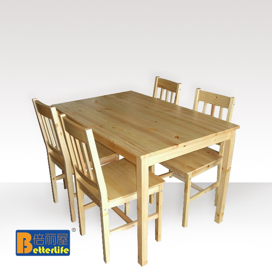 Us 5600 Ikea Dining Table Dinette Table And Four Chairs Rice Combination Of Pine Wood House X Z 008 Li In Dining Chairs From Furniture On