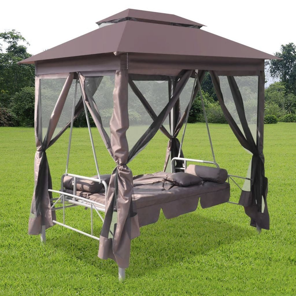 Vidaxl Gazebo Swing Chair Garden Outdoor Patio Porch Seat Hammock Relaxer Tent