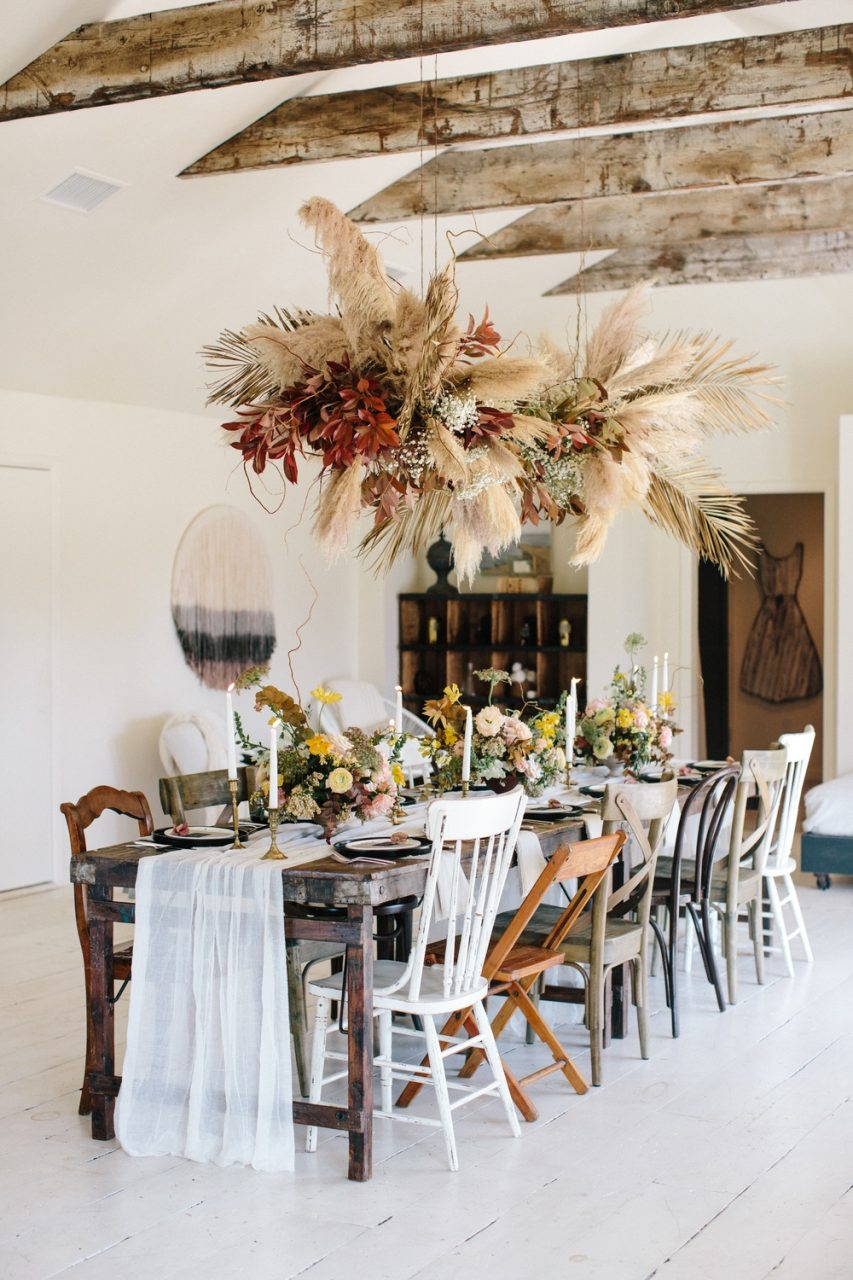 Vintage Bohemian Dinner Party For Antique Week In Texas Ruffled