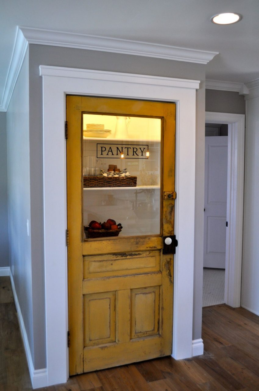 Vintage Farmhouse Door Repurposed As Pantry Door Love This For The
