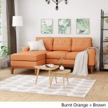 Welles Mid Century 2 Piece Chaise Sectional Sofa Set With Tufted Christopher Knight Home