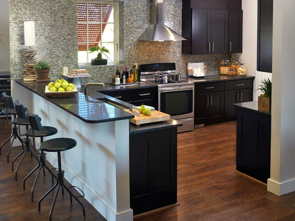 White Cabinets With Dark Granite Countertops Madison Art Center Design