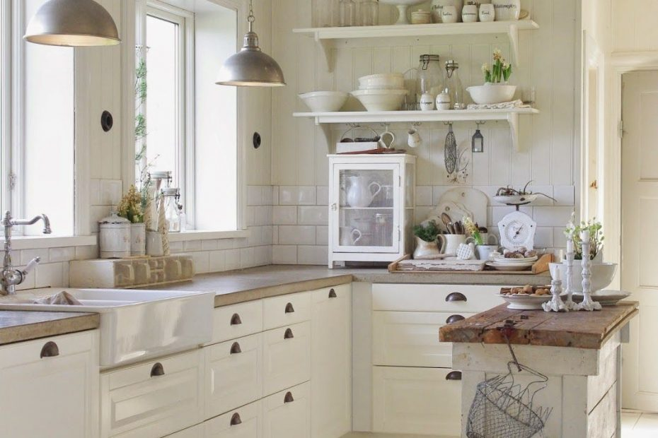 White Farmhouse Kitchen For The Home