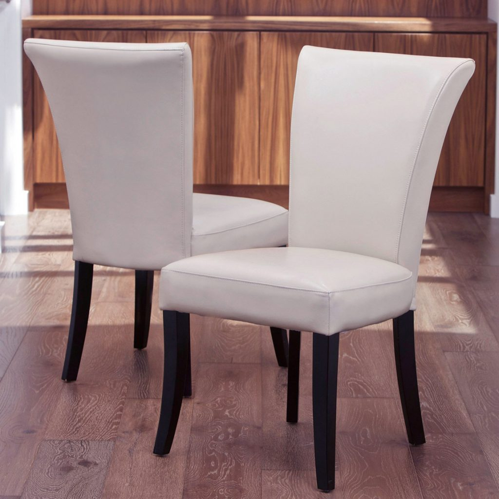 White Leather Dining Room Chairs For Something Spesial Revivaldear