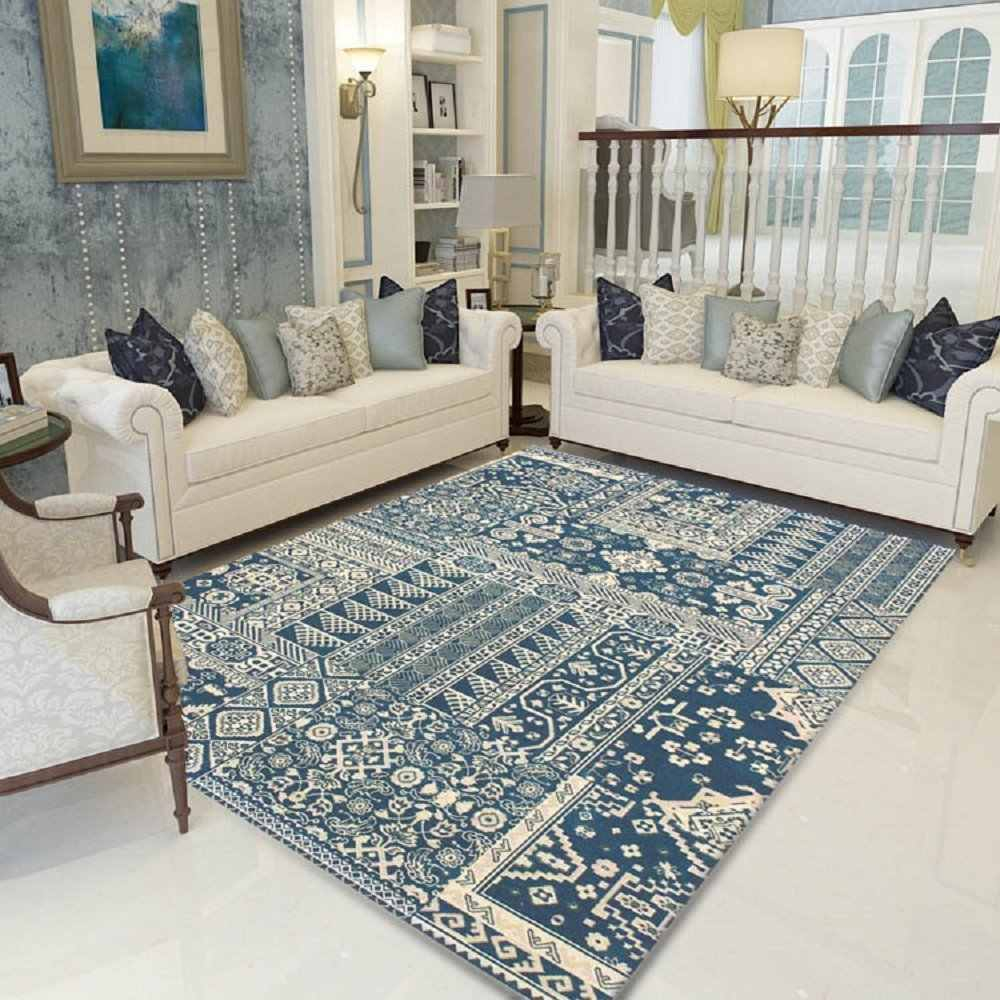 Winlife Modern Living Room Carpet Vintage Carpet For Bedroom European Rugs And Carpets For Home Living Room Bedroom Carpet