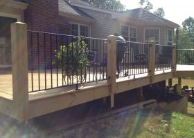 Decks with Wrought Iron Railings