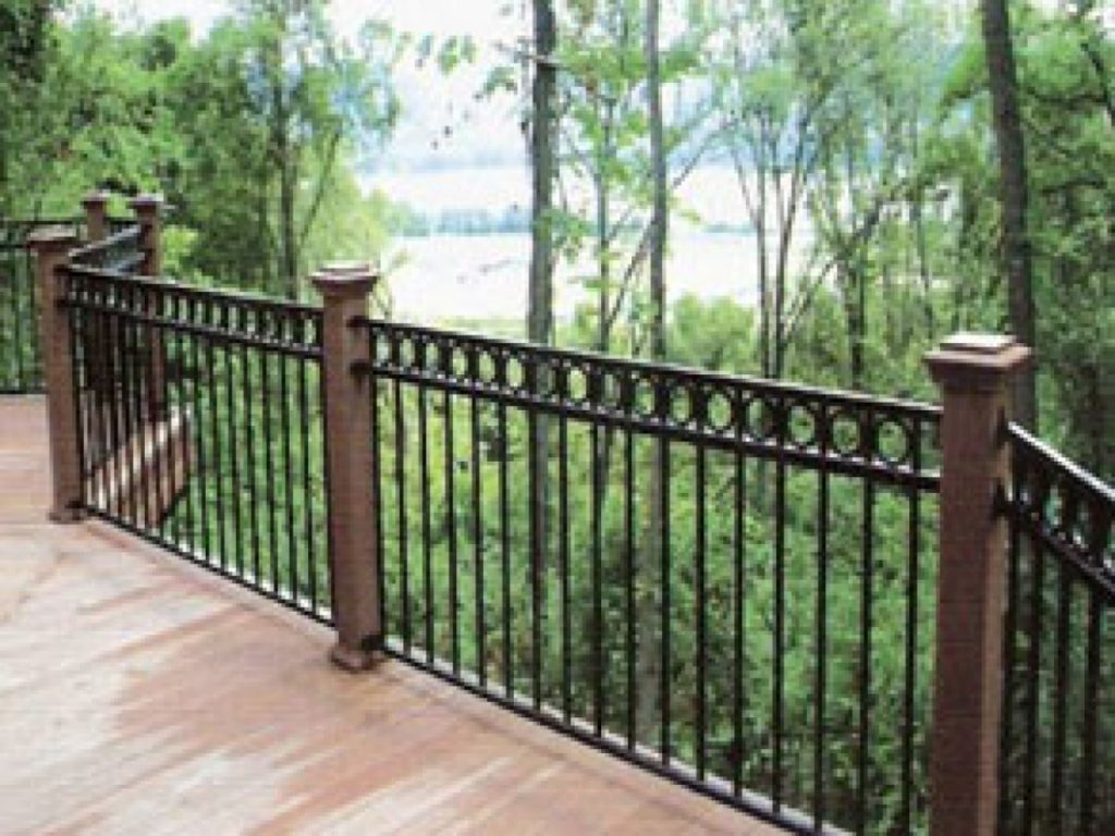 Wrought Iron Deck Railing Designs And Attention Grabbing Wrought