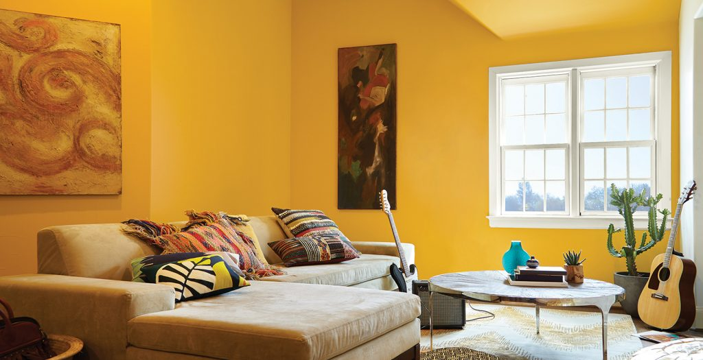 Yellow Living Room Ideas And Inspiration Behr