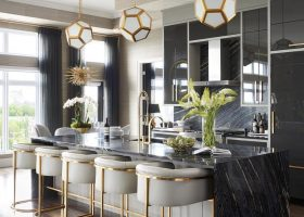 Modern Glam Kitchen Dining